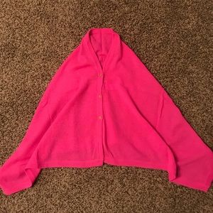 NWOT Lilly P Cashmere Pink Poncho (girls L/AXS)